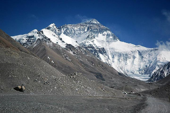 Mount Everest taken from the Rombuk Glacier on Mallory on Travel adventure photography
