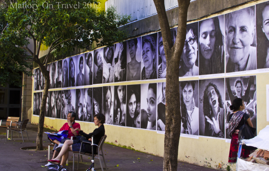 Photographic wall in Barcelona, Spanish Catalonia on Mallory on Travel adventure photography
