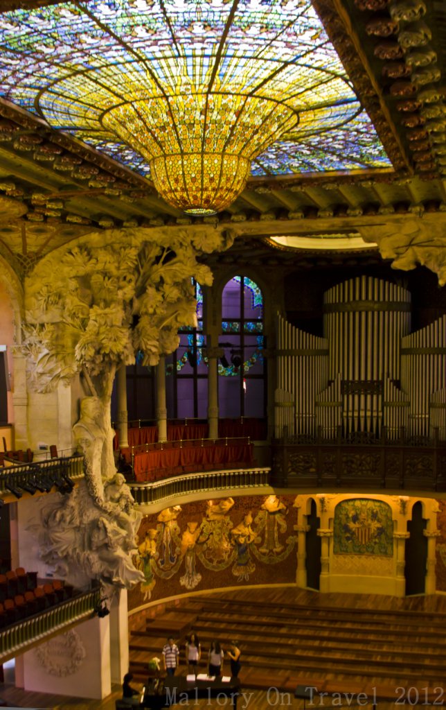 Choir practice inside the Palau de la Música Catalana, Barcelona, Spain on Mallory on Travel adventure photography