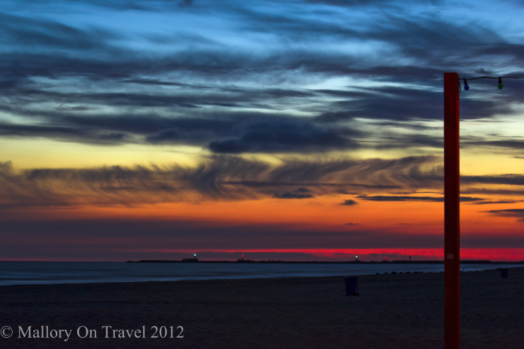 Sunset on the Baltic coastline at Liepaja in Latvia on Mallory on Travel adventure photography