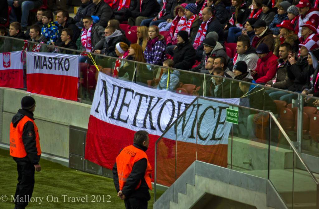 Stewarding the friendly game between Poland and Portugal at the Polish National Football stadium, Warsaw on Mallory on Travel adventure photography