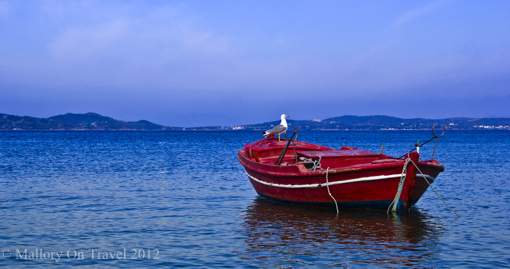 Fishing vessel in the fishing port of Ouranoupolis near Mount Athos in Halkidiki, Greece on Mallory on Travel adventure photography