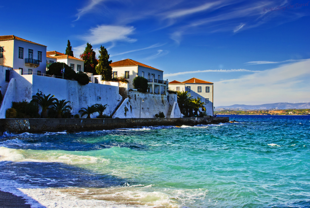 The Greek island of Spetses in the Saronic Gulf of the Aegean Sea on Mallory on Travel adventure photography