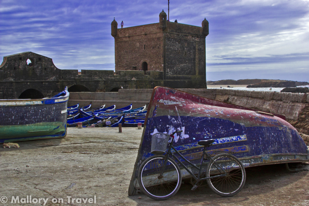 The ramparts of the windy city Essaouira on the Atlantic coast of Morocco on Mallory on Travel adventure photography