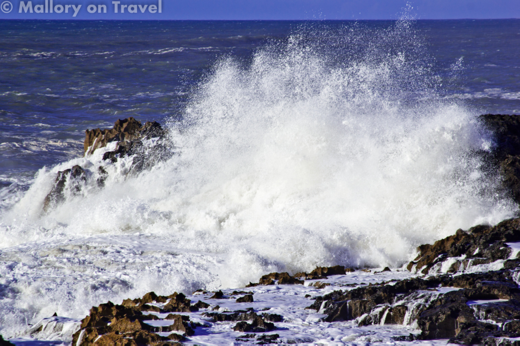 The powerful Atlantic Ocean off the North Africa coast of Morocco in Essaouira on Mallory on Travel adventure photography