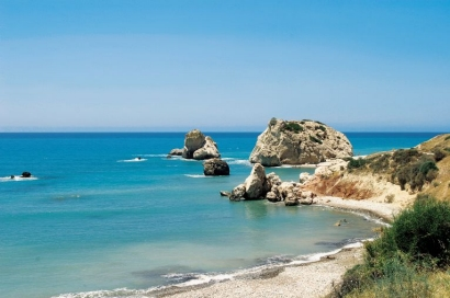 Aphrodite's Rock on the Mediterranean Island of Cyprus on Mallory on Travel adventure photography