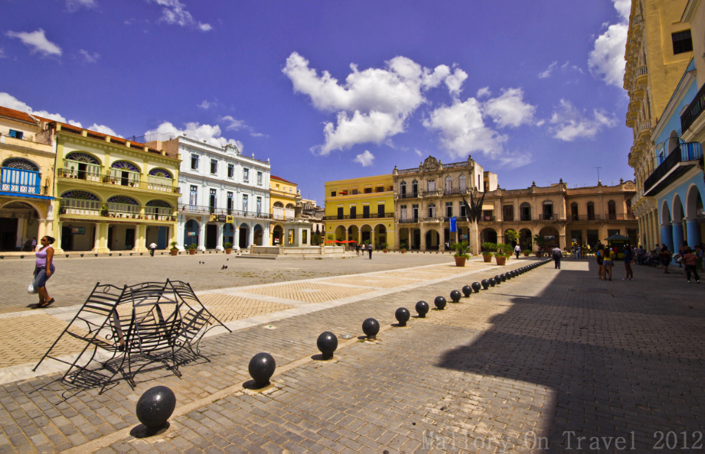 The Old Square in Havana, Old Town, Cuba on Mallory on Travel adventure photography
