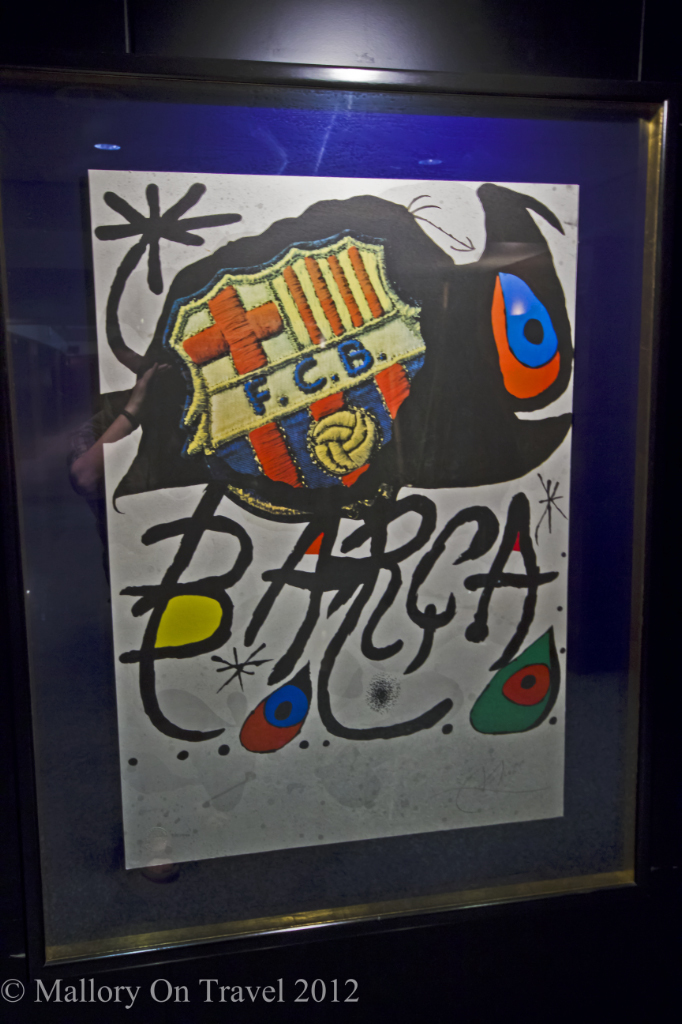 Modern art depicting FC Barcelona at the Nou Camp on Mallory on Travel adventure photography