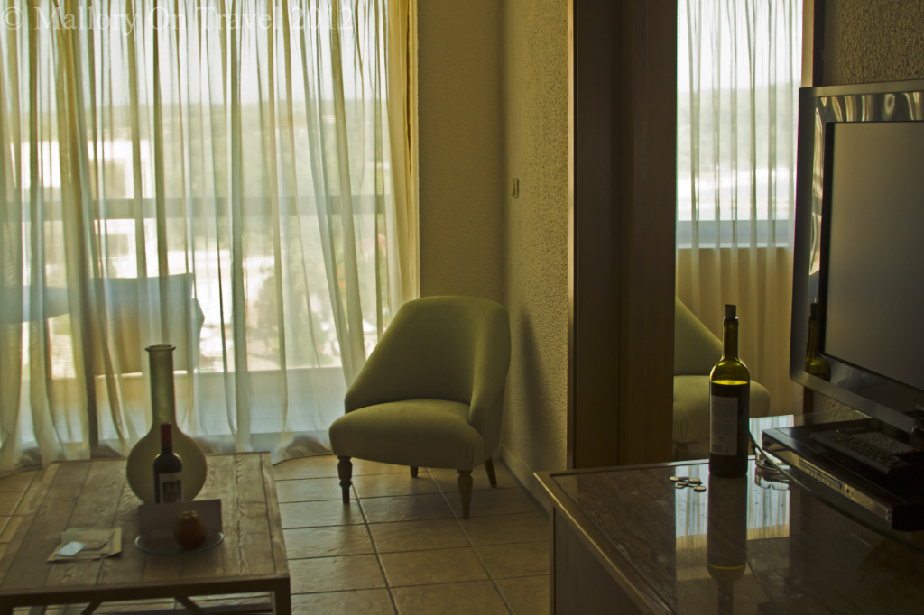 Suite in the Sani Beach Hotel in the Sani Resort in Halkidiki, Greece on Mallory on Travel adventure photography