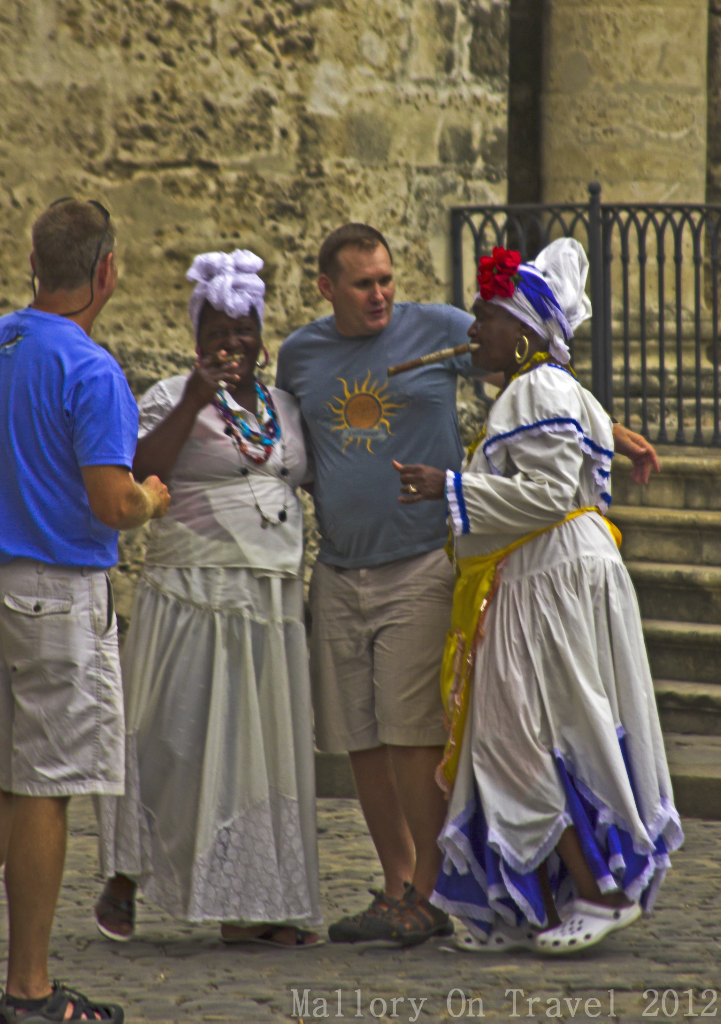 Santeria flower ladies in Old Havana, Cuba on Mallory on Travel adventure photography