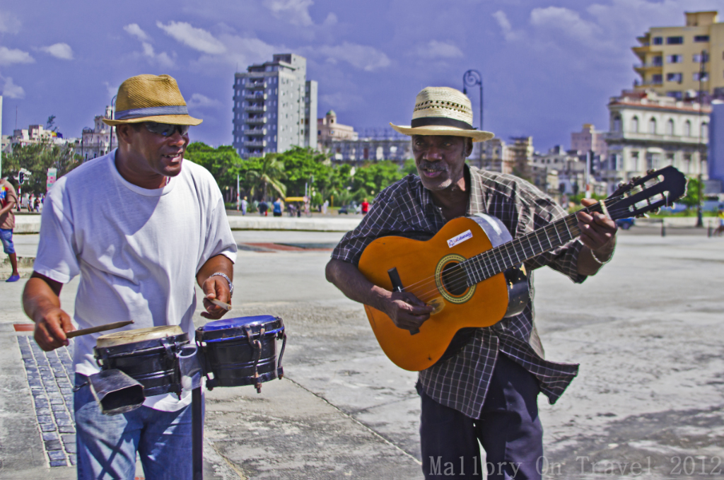 Musicians on the Malecón, Havana,Cuba on Mallory on Travel adventure photography