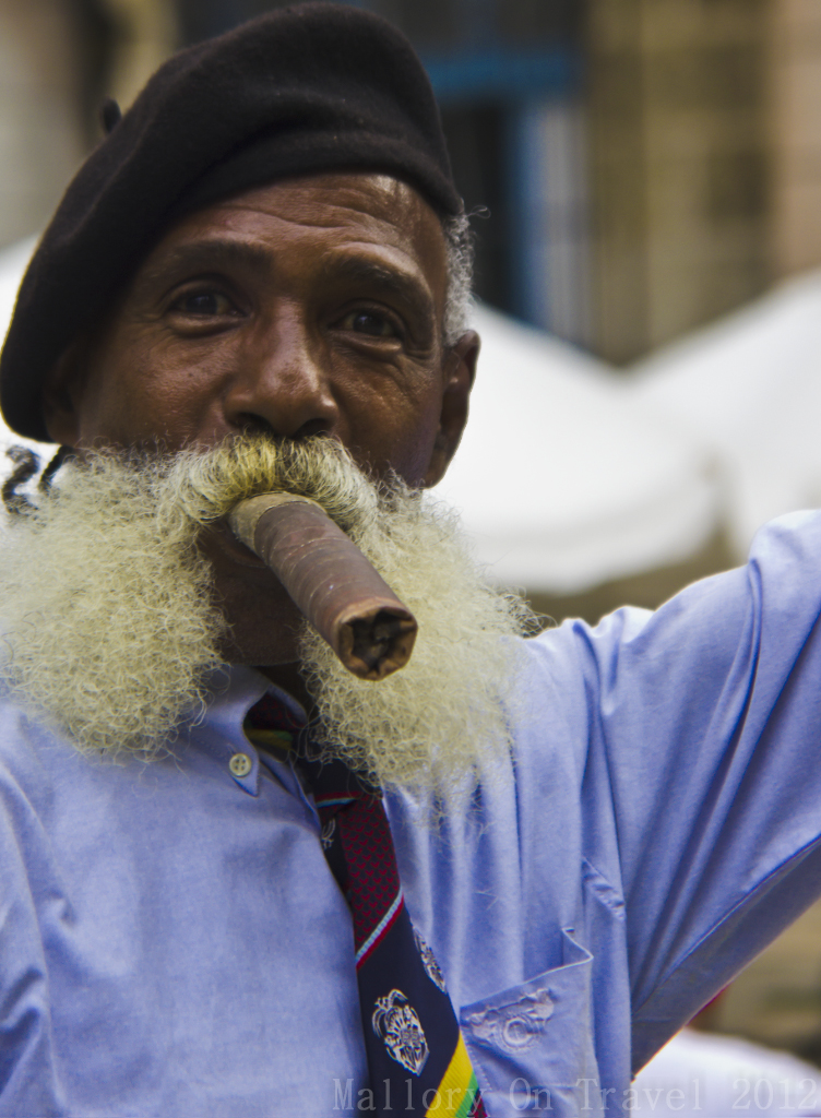 Model character in Old Havana on the Caribbean island of Cuba on Mallory on Travel adventure photography