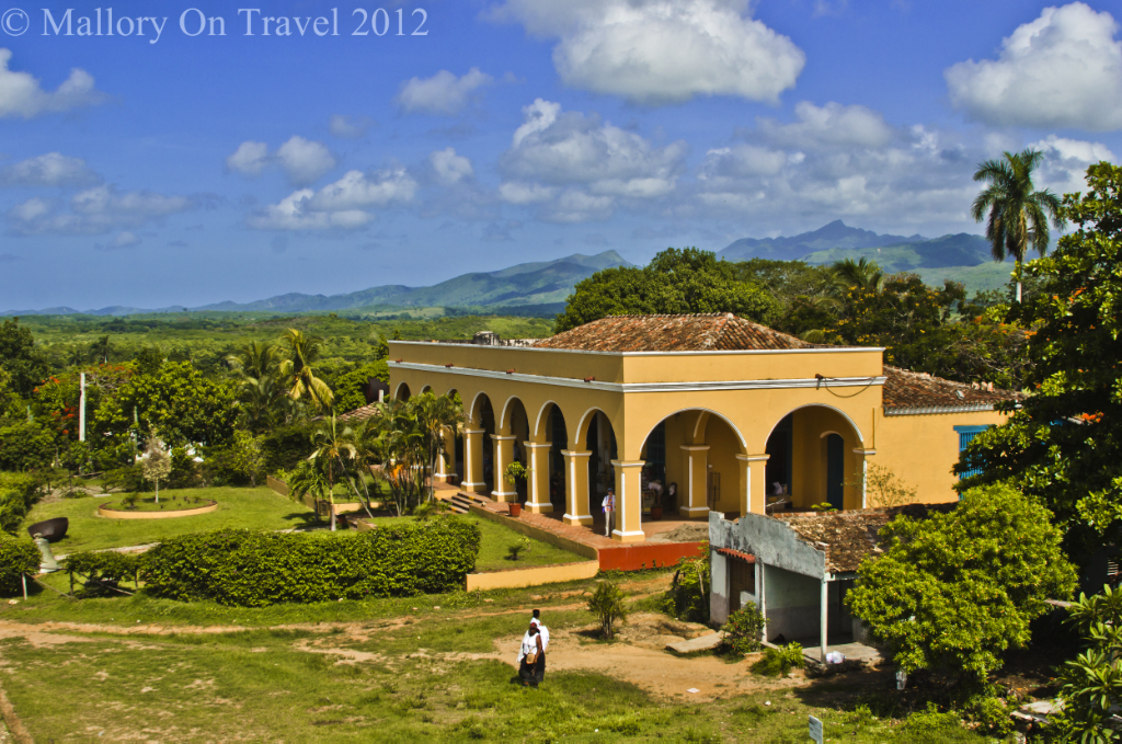 View of the plantation home from the Manacas Iznaga Tower near Trinidad, Cuba on Mallory on Travel adventure photography