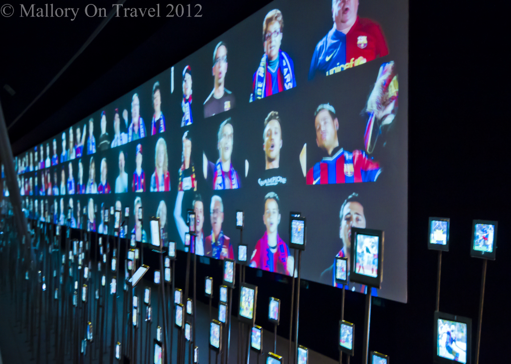 Hall of Fame at FC Barcelona in the Nou Camp on Mallory on Travel adventure photography
