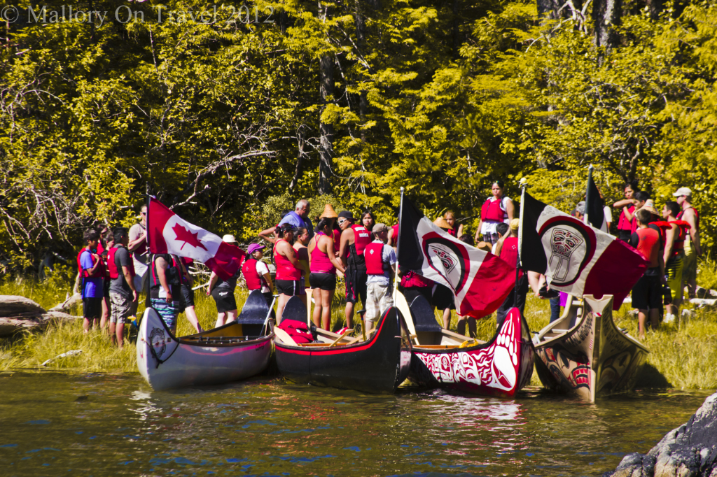 The canoe festival in Hartley Bay home of the Gitga' at First Nation people in Canadian British Columbia on Mallory on Travel adventure photography