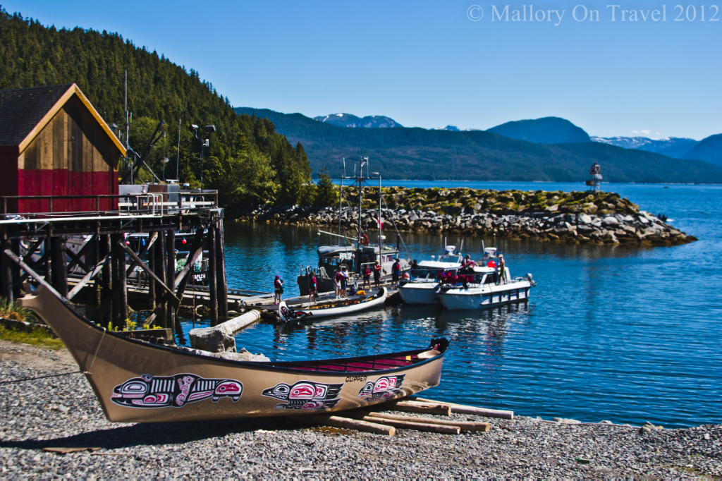 The harbour in Hartley Bay home of the Gitga' at First Nation people in British Columbia, Canada on Mallory on Travel adventure photography