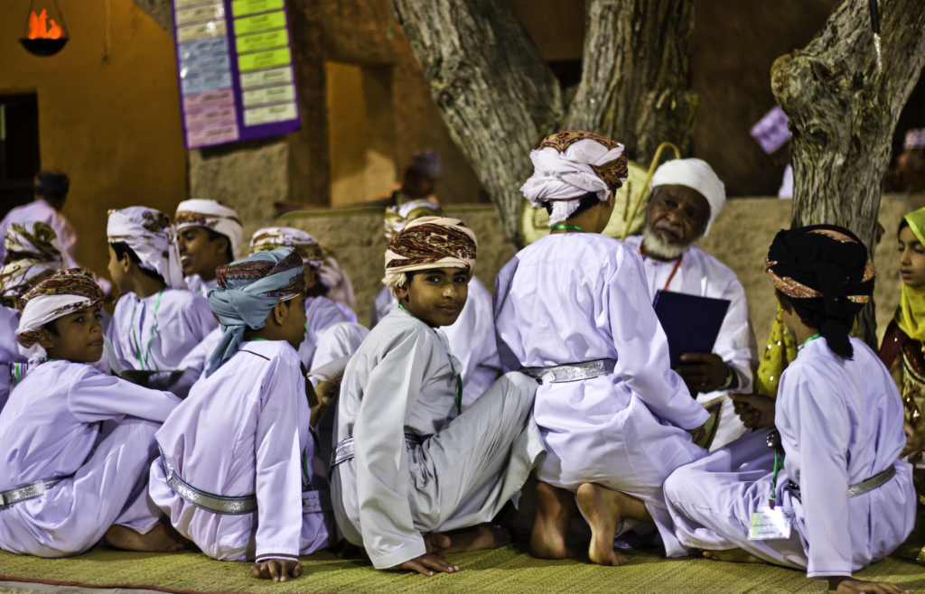 Storytelling at the Muscat Festival in Oman on Mallory on Travel adventure photography