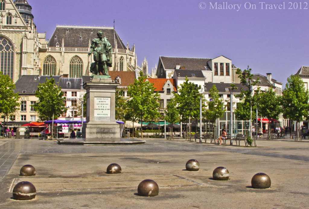 The Statue of Rubens near Antwerp Cathedral, in the Flanders region of Belgium, Europe on Mallory on Travel adventure photography