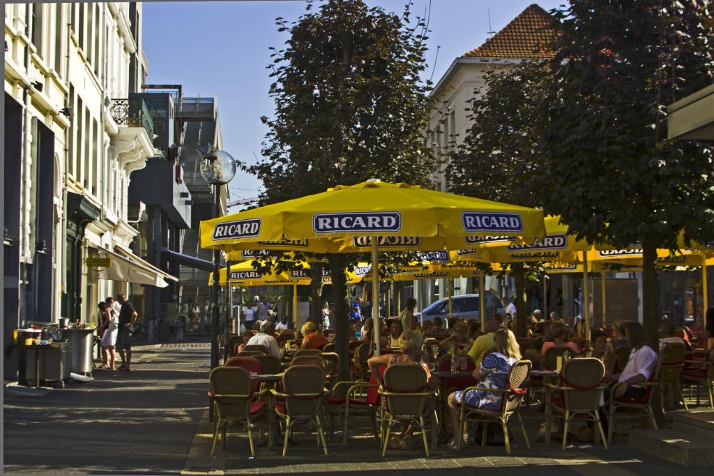 City centre cafe culture in Antwerp in the Flanders region of Belgium on Mallory on Travel adventure photography