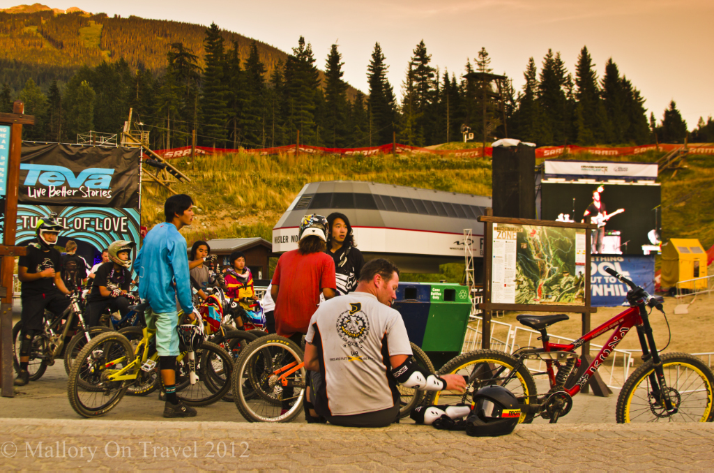 Mountain bikers at Whistler Crankworx festival British Columbia, Canada on Mallory on Travel adventure photography