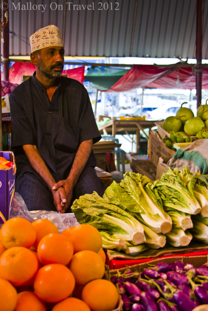 Vegetable stallholder in the souq at Seeb near Muscat in Oman on Mallory on Travel, adventure, adventure travel, photography Iain-Mallory-131-2.jpg seeb-oman