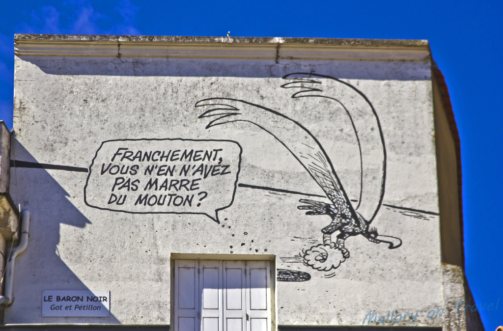 Comic mural project in Angoulême in the Poitou-Charentes region of France on Mallory on Travel adventure photography