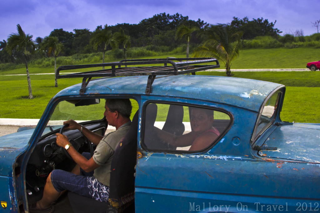 Guerilla Blog, Car driver outside Havana on the Caribbean island of Cuba on Mallory on Travel adventure photography