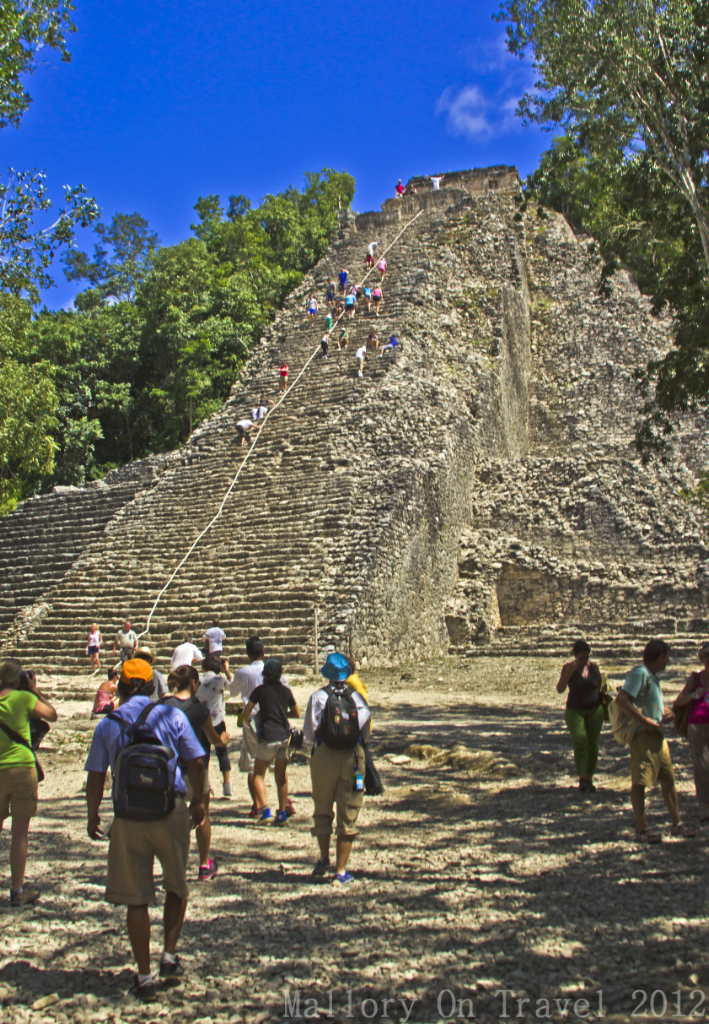 Trekking to Nohoc Mul Pyramid Cobá, near Riviera Maya, Mexico on Mallory on Travel adventure photography