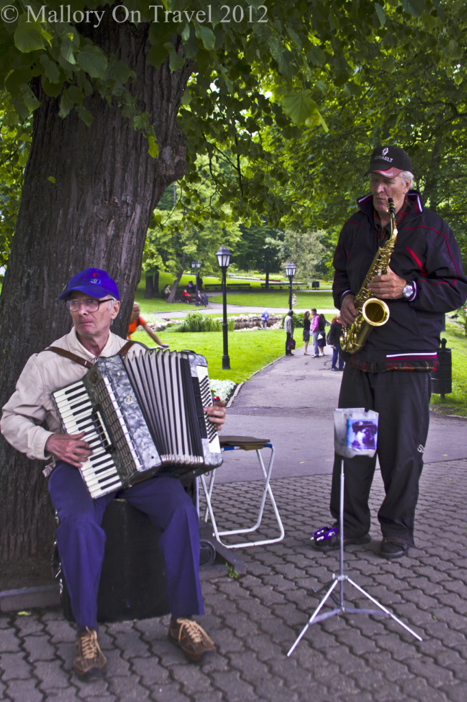 Street performers in the park, in Riga the Latvian capital city on Mallory on Travel adventure photography