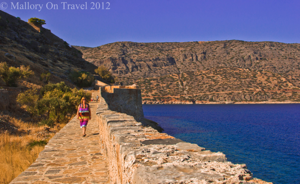 The Venetian fortifications on Spinalonga, Crete in Greece Copyright © Mallory on Travel 2012