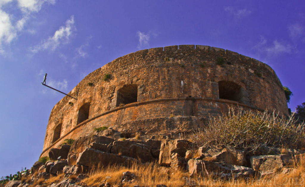 The Venetian defences on the island of Spinalonga, near Elouda on Crete, Greece on Mallory on Travel adventure photography