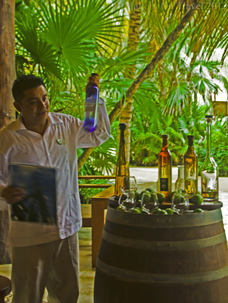 Tequila tasting session in the Riviera Maya on the Mexican coast of the Caribbean on Mallory on Travel adventure photography