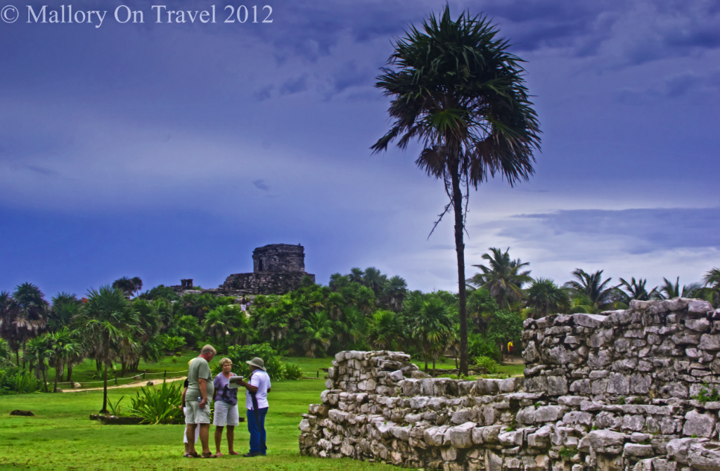 A guided tour at Tulum in the Riviera Maya. Mexico on Mallory on Travel adventure photography