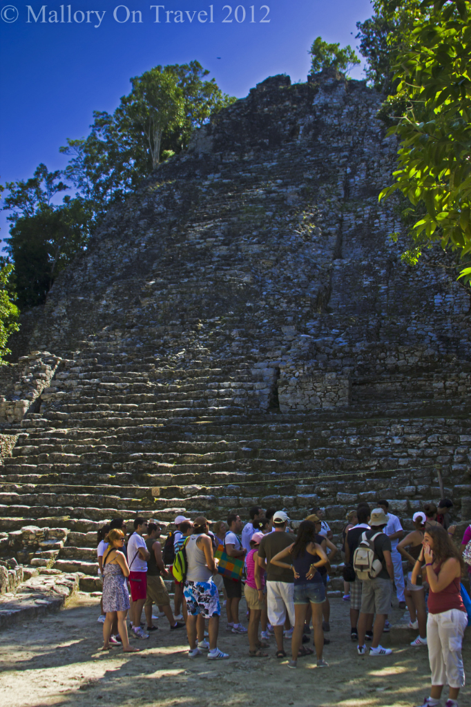 Guided tours at the archeological site of Cobá, pyramids near Riviera Maya, Mexico