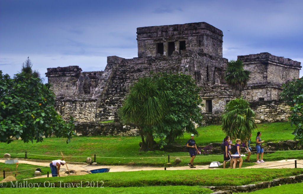 Pyramid El Castillo at Tulum in the Riviera Maya. Mexico on Mallory on Travel adventure photography