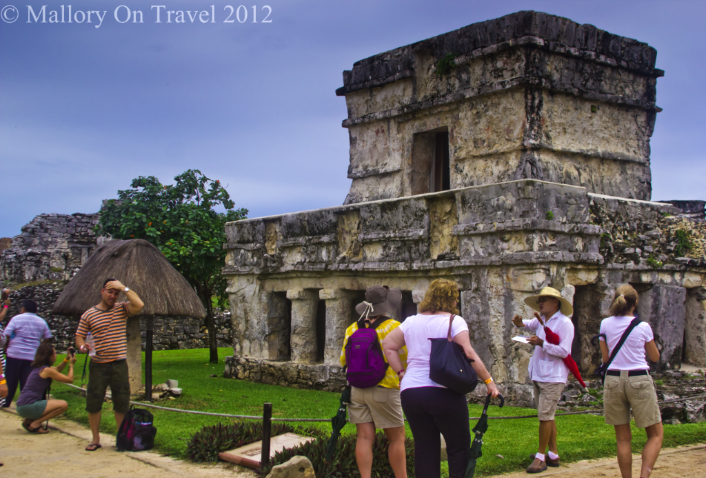 The Temple of the Frescoes at Tulum in the Riviera Maya, Mexico on Mallory on Travel adventure photography