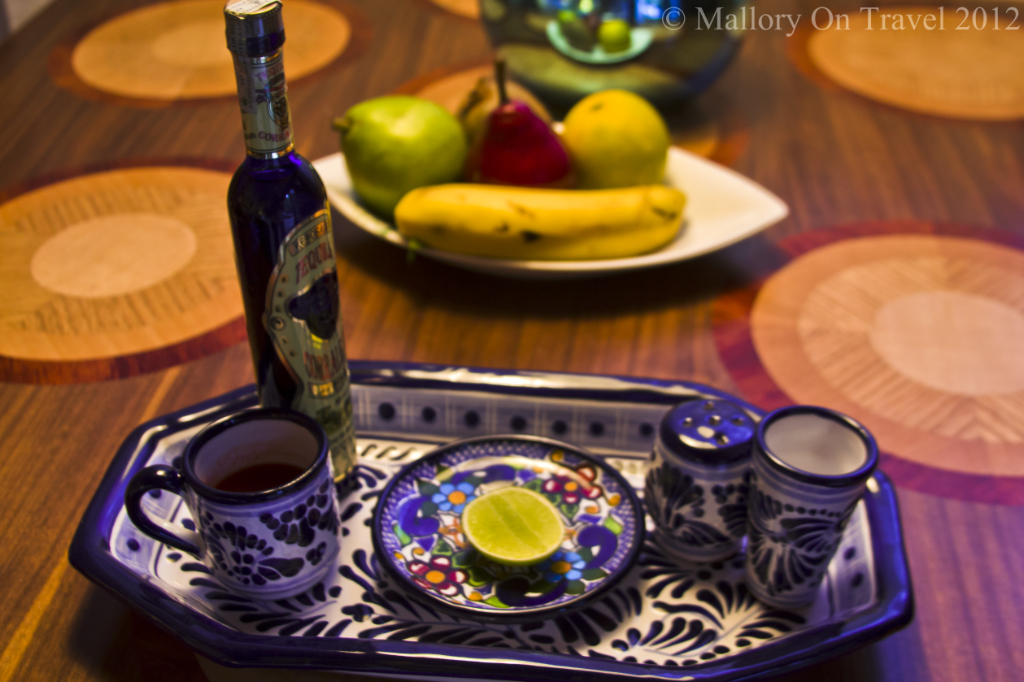 Tequila slammer ingredients in the Viceroy resort, Riviera Maya in Mexico   on Mallory on Travel, adventure, adventure travel, photography