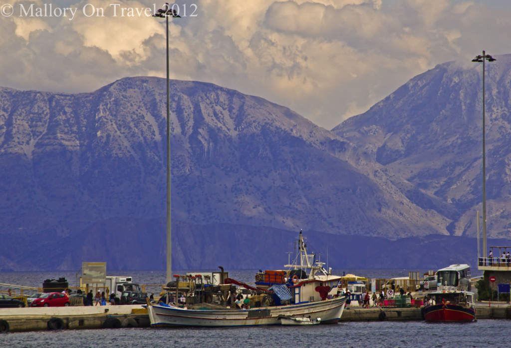 Fishing boats in the harbour at Agios Nikolaos on the island of Crete, Greece on Mallory on Travel adventure photography