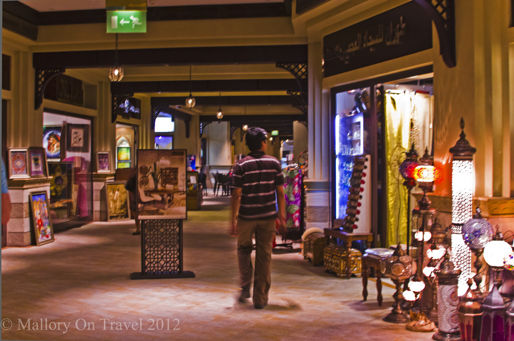 The modern indoor souk of the emirate of Dubai in the United Arab Emirates on Mallory on Travel adventure photography Iain Mallory-300-21