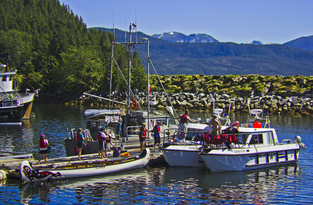 First Nation village Hartley Bay in Great Bear Rainforest, British Columbia Canada on Mallory on Travel adventure photography Iain Mallory-300-159