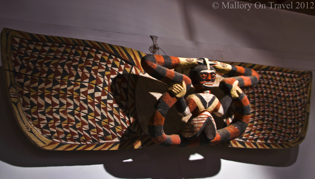 Indigenous Culture; Aboriginal art in a tribal gallery Hahndorf, South Australia near Adelaide on Mallory on Travel adventure photography Iain Mallory-300-68