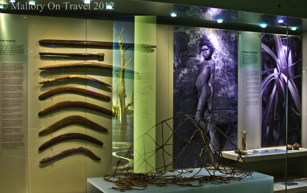 Indigenous Culture; Boomerangs and photography in the South Australia Museum in Adelaide on Mallory on Travel adventure photography Iain Mallory-300-61