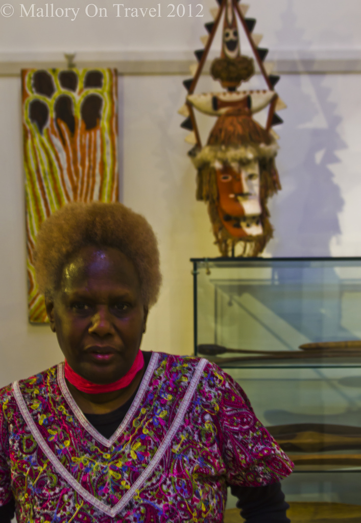 Indigenous Culture; Stalwart of aboriginal tourism and proprietor of a tribal gallery Hahndorf, South Australia near Adelaide on Mallory on Travel adventure photography Iain Mallory-300-67