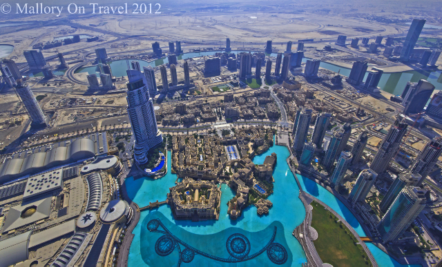 The view from the Burj viewing area near the top, in the Emirate of Dubai on Mallory on Travel, adventure, adventure travel, photography Iain Mallory-300-11 burj-khalifa
