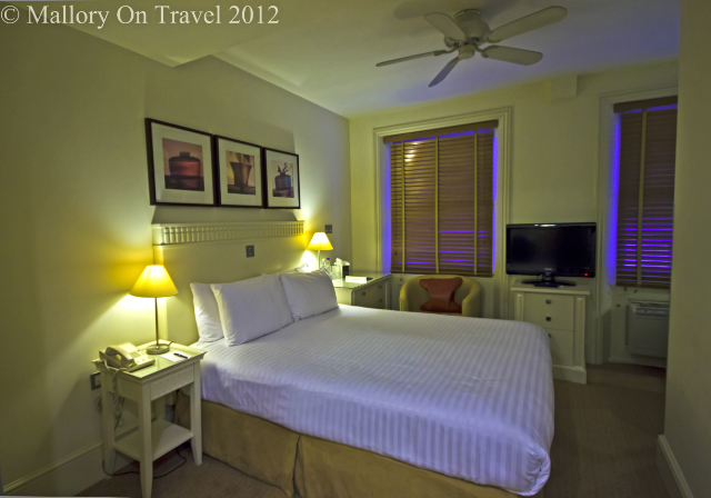 A double room in the Kensington House hotel London on Mallory on Travel adventure photography
