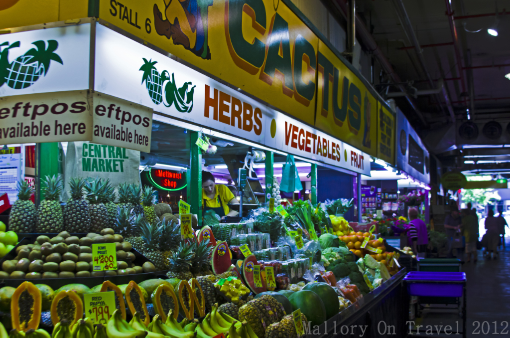 Fruit and vegetable stall in the Central Market, Adelaide, South Australia on Mallory on Travel adventure photography