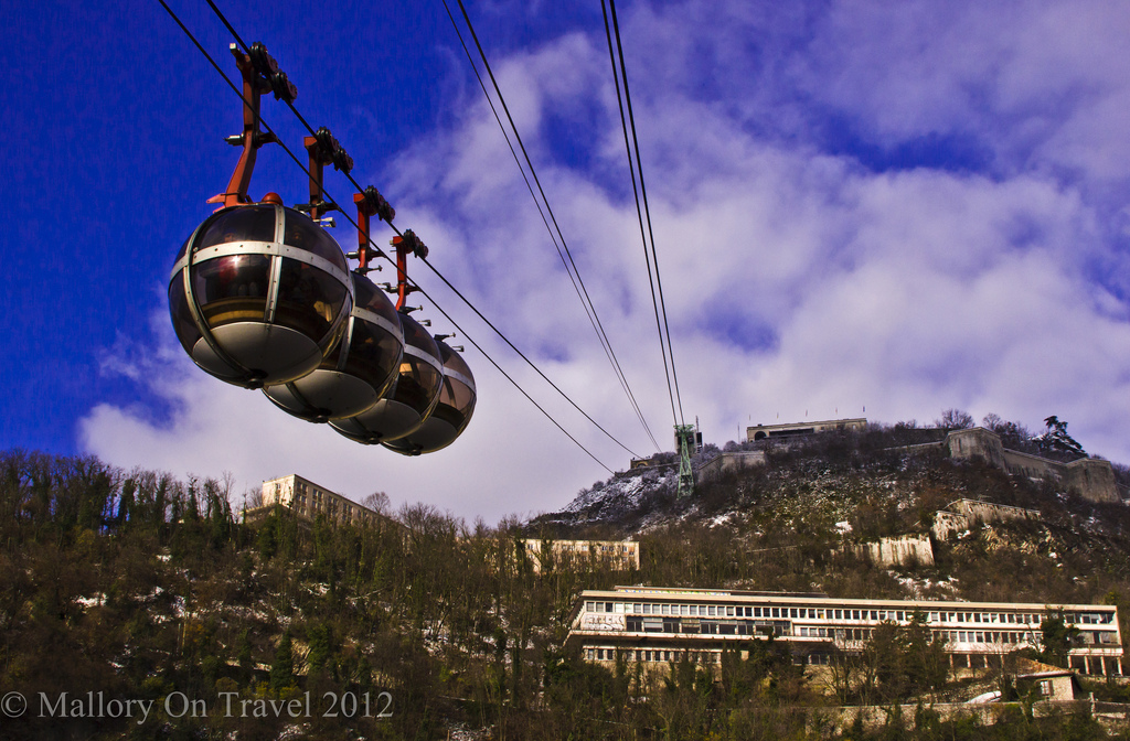 Cable car to La Bastille in Grenoble in the Rhône Alpes region of France on Mallory on Travel adventure photography Iain Mallory-300-26