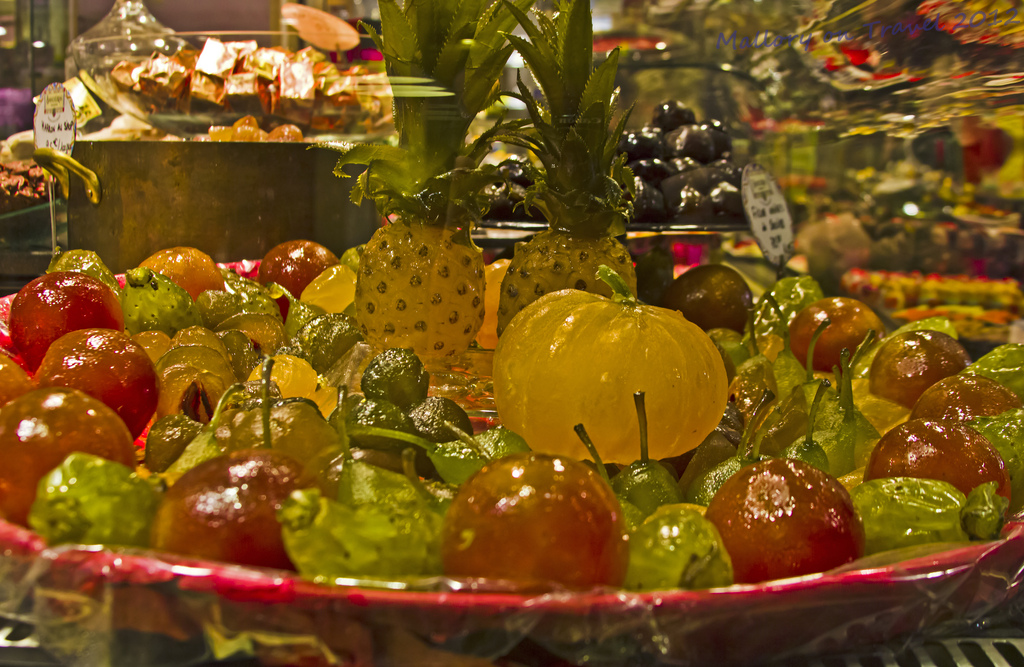 Christmas jellied fruits in Lyon in the Rhône-Alpes region of France on Mallory on Travel, adventure, photography Iain Mallory-300-63