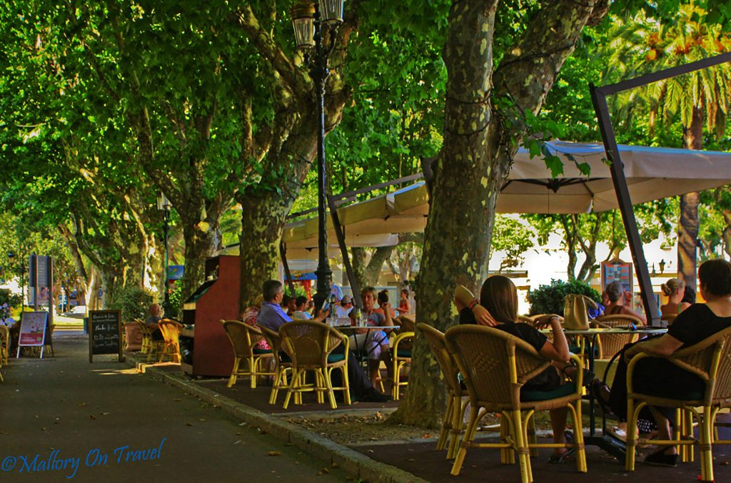 Café culture, St Nicolas Square, Bastia on the French island of Corsica on Mallory on Travel adventure photography Iain Mallory_Bastia 1-2