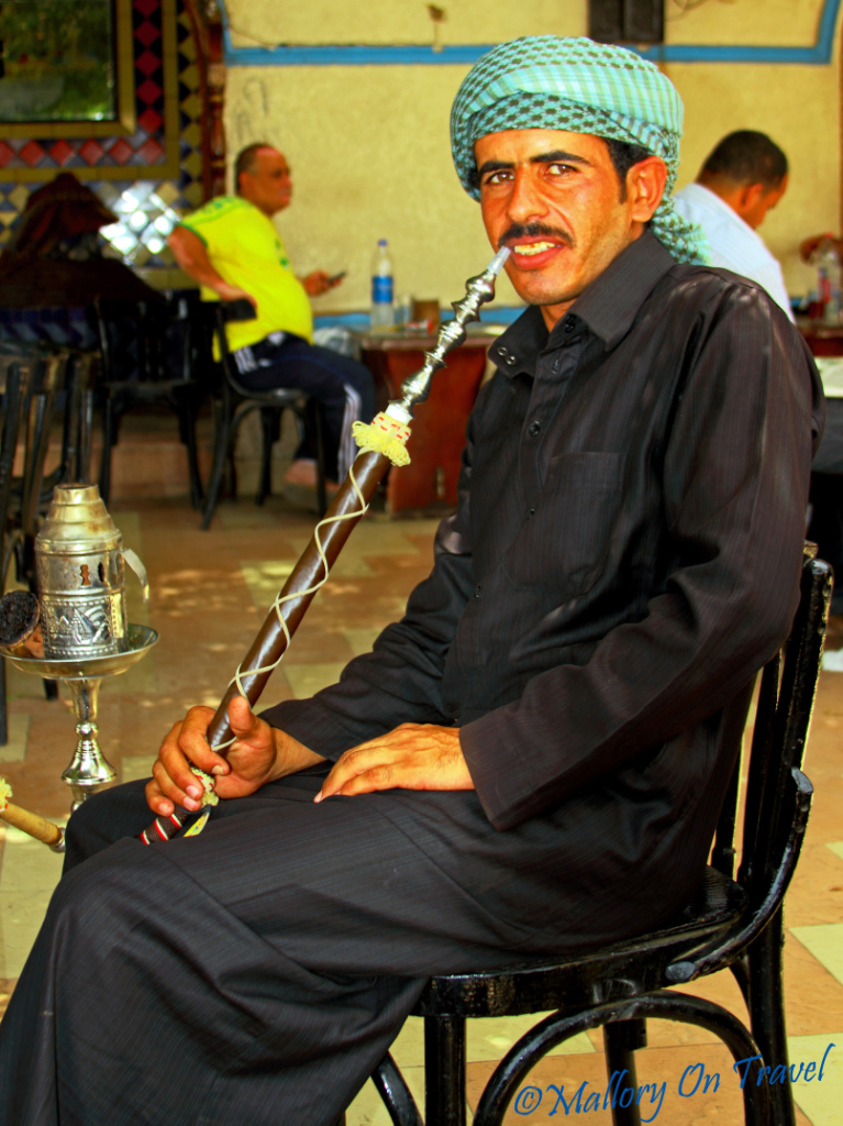 Local enjoying some shisha time in Sharm el Sheik, Egypt on Mallory on Travel adventure photography